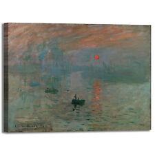 Monet impressione levar del sole quadro stampa tela dipinto telaio arredo casa