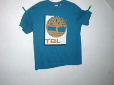 timberland t-shirt short sleeve light blue front boxyback size XL BRAND NEW
