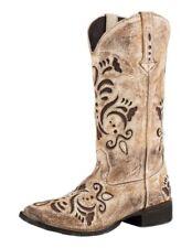 Roper Western Boots Womens Belle Leather Tan 09-021-0901-2030 TA