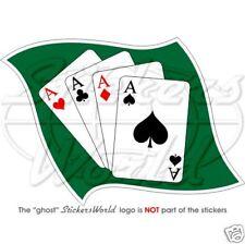 Vier Asse Poker Karten Casino As Sticker Auto Aufkleber Sticker