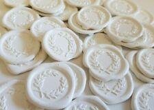 Wax seal stickers -  laurel wreath wedding envelope seals self adhesive