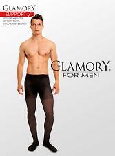 Collants de soutien pour hommes Glamory Support 70DEN noir, à la taille 4XL (64)