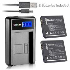 Kastar Battery and LCD Slim USB Charger for Panasonic DMW-BCF10 / S009 Lumix DMC