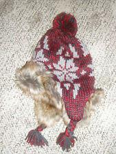 NWT GAP Furry Trapper Pom Pom Hat Boys Girls Sz S/M 2-3