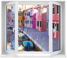 Sticker fenêtre trompe l'oeil Venise réf 7