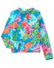 NWT Gymboree Girl Tropical Rash Guard 5 6 7 8 10 12 Swim shop UPF 50+