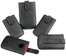 Handy Tasche TITAN Cover Case Hülle Etui mit Ausziehilfe in der Farbe Schwarz