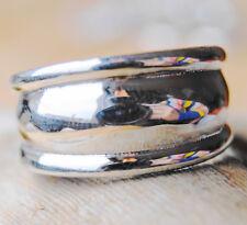 Breit Dick Massiv Silberring 59 62 65 67 70 Silber Ring Bandring Schlicht Glanz