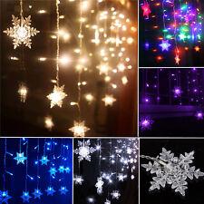 3.5m 96led Nieve témpano Cortina Guirnalda Luces Colgante Boda Navidad