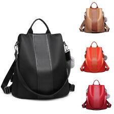 Women Nylon Pompom Backpack Handbag Ladies Rucksack Anti-theft Shoulder Bag