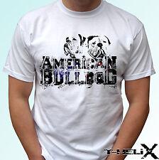 Bulldog américain logo-chien t shirt top tee design-homme femme enfants bébé tailles