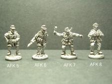 Metal WWII German Afrika Korps Troops - 4 Variations  1/76 Scale. AFK5-6-7-8