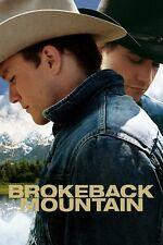 """Brokeback Mountain""..Heath Ledger... Classic Movie Poster Various Sizes"