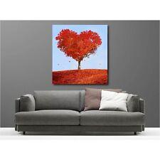 Tableaux toile déco carré arbre coeur  113194780