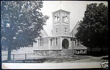 West Paris Maine~ 1900's Universalist Church ~ Rppc