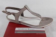 Marco Tozzi Sandalia de dedo del pie barra, beige/ plata, Sintético NUEVO