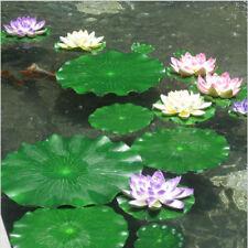 Künstliche Seerose EVA Schaum Lotus Leaf Aquarium Teich Garten Dekor 17/28/40 CM