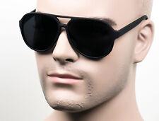 Large Super Dark Lens Pilot Vintage Style Sunglasses Soft Feel Matte 117