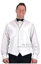 Big Mens Ivory L.A  Formal Waistcoat Size 2xl 3xl 4xl
