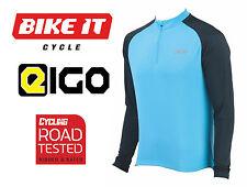 NUOVO Eigo TEMPEST Ciclismo in jersey-MANICA LUNGA BLU-MTB ROAD BICI CICLO