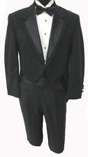 Boys Size Black Oscar de la Renta Contour Tuxedo Tailcoat Dickens Costume