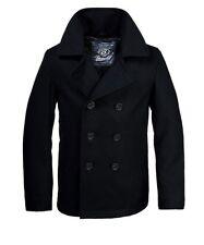 Brandit Uomo 70% in Lana Cappotto Pea Coat Inverno Giacca Parka Caban Giacca Marine