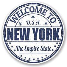 2 x New York USA Vinyl Sticker Laptop Travel Luggage Car #5221
