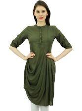 des femmes de capot style chic et coton Kurti vert olive Kurti top casual wear