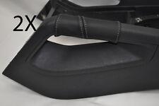 Gris Stitch encaja Vw Golf V Mk5 V Jetta 04-09 2x Centro Consola triángulo cubre