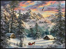 Mountain Christmas - DIY Chart Counted Cross Stitch Patterns Needlework