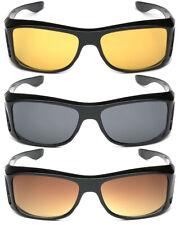 Medium-Large FIT OVER Sunglasses Cover Prescription RX Eye Glasses Men Women