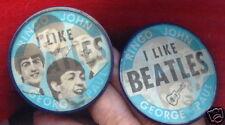 ORIGINAL 1960s VARI VUE THE BEATLES BADGE PIN BUTTON PINBACK