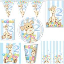 2. COMPLEANNO DECORAZIONE ARTICOLI DA FESTA GIOVANI Zweiter di bambino Giraffa