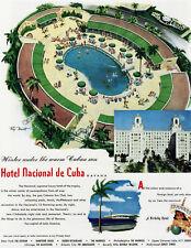 Travel POSTER.Stylish Graphics. Hotel nacional de Cuba. Decor art 1783