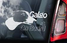 Galgo on Board - Car Window Sticker - Spanish Greyhound Espanol Sign Decal - V03