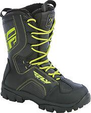 New Mens FLY Racing Marker Black/Hi-Viz Snowmobile Winter Snow Boots -40 F