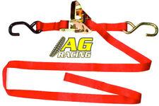 Raceline Tie Down Strap Ratchet Type Red Motocross 1.8m 1.8 metres