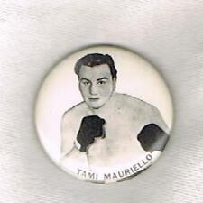 Tami Mauriello boxing pinback button fought Joe Louis