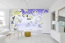 3D Blanc Lis 113 Photo Papier Peint en Autocollant Murale Plafond Chambre Art