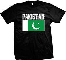 Islamic Republic of Pakistan Text Flag Love Pakistani Pride Mens T-shirt