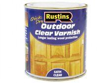 Rustins Séchage Rapide Extérieur Vernis Satin Bois Protection 250 ml 500 ml