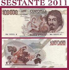 ITALIA  100.000 LIRE CARAVAGGIO 1983  1° TIPO LETTERA A P 110a  FDS / UNC 100000