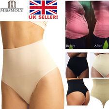 UK High Waist Tummy Control Invisible Body Shaper Slim G String Underwear Thong
