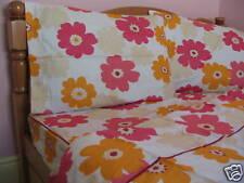 Full Size Cotton Pink Floral Duvet Cover Set Red Cream Orange Cream 3PC