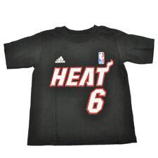 NBA Adidas Miami Heat Lebron James 6 Niño Niños Camiseta MVP Game Time Tee
