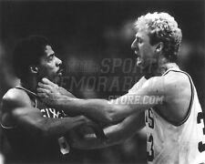 Larry Bird Boston Celtics choking Dr. J 76ers b&w  8x10 11x14 16x20 photo 111