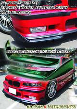 Front Bumper Lip Splitters (ABS Black) Fits 94-99 BMW E36 M3