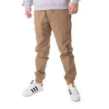 Reell REFLEX Pana Pantalones hombre pantalones de ocio Oscuro Arena 15680