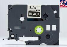 1-30x 18mm cinta TZe 345, TZ 345 Blanco/Negro Para Impresoras De Etiquetas Brother P-Touch