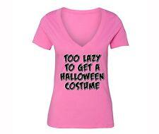 Lazy T-shirt Halloween Costume Jack O Lantern Skull Dia Muertos Skeleton Tshirt